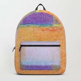 Amber and Mauve Square Collage Backpack