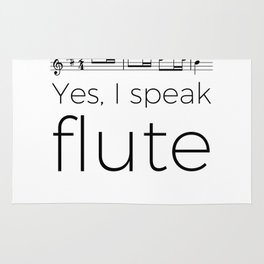 I speak flute Rug