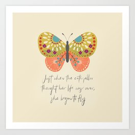 Botanical Butterfly: She began to Fly Art Print
