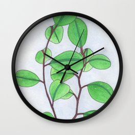 Mirrored leaves Wall Clock