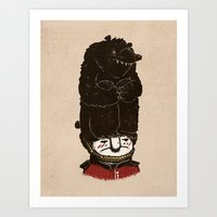 bears Art Prints featuring Bears by Ronan Lynam