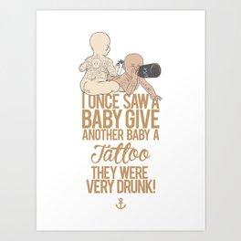 They Were Very Drunk! Art Print
