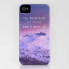 The mountains are calling, and i must go. John Muir. iPhone (4, 4s) Slim Case
