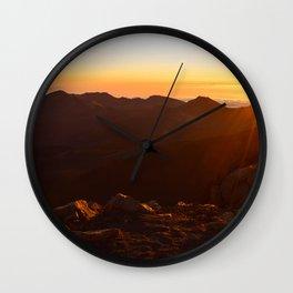 Sunrise Flares Wall Clock