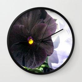 Dark Pansy Wall Clock