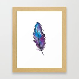 Purple Feather Framed Art Print