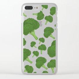 I Love Broccoli Clear iPhone Case