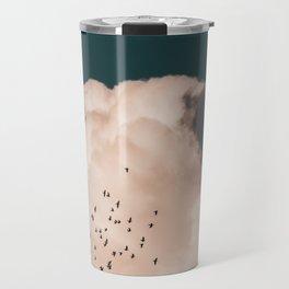Clouds and birds Travel Mug