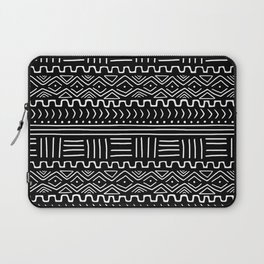 Mud Cloth on Black Laptop Sleeve