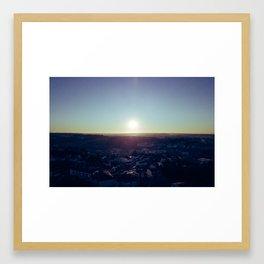 Sunset from the sky Framed Art Print