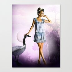 Purple Moon Canvas Print