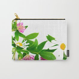 Summer Meadow Flowers White Background #decor #society6 #buyart Carry-All Pouch