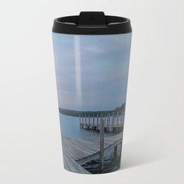 Weirs Beach Docks Metal Travel Mug