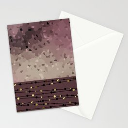 Pink brown combo pattern . Stationery Cards