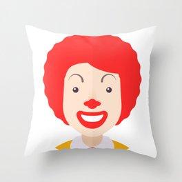 Ronald McDonald Throw Pillow