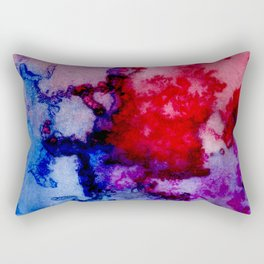 Abstract Watercolor Wash Rectangular Pillow