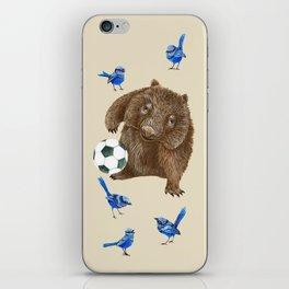 Blue wrens Wombat Football iPhone Skin