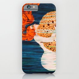 Mermaid with Sponge Vintage Poster iPhone Case