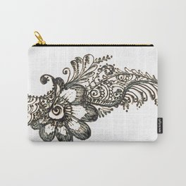 17. Henna Flower Corner  Carry-All Pouch