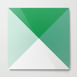 Geometric Green Metal Print