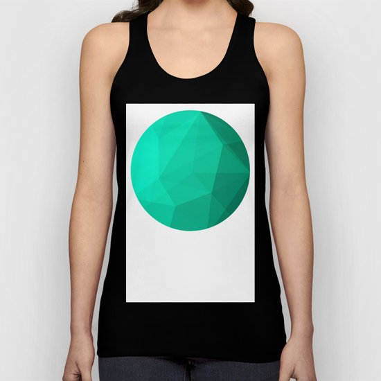 Geometric Polygonal Pattern 01 Unisex Tank Top