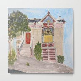San Francisco victorian house in Noe Valley, California Metal Print