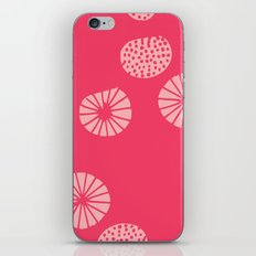 Dandelion flying hot pink iPhone & iPod Skin