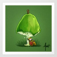 bookworm Art Prints featuring BookWorm by Alberto Arni
