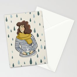 Rainy Day Girl Stationery Cards