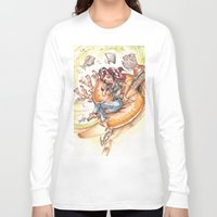 led zeppelin Long Sleeve T-shirts featuring The Little Mermaid Ariel Turntable Led Zepellin 70s Art by AnthonyHelmer