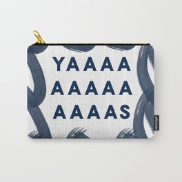 Yas Digital Design-Navy | Excitement | Typography Carry-All Pouch