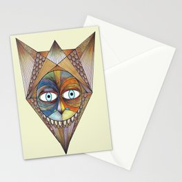 Parted and Feathered Stationery Cards
