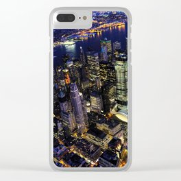 New York City, Manhattan, USA night cityscape Clear iPhone Case