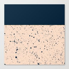 XVI - Dark Blue Canvas Print