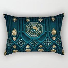 Leo Abstract Background Rectangular Pillow