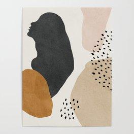 Woman silhouette art, Mid century modern art Poster