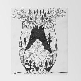 Mothernature Owl Throw Blanket