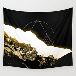 Golden Mountain Wall Tapestry