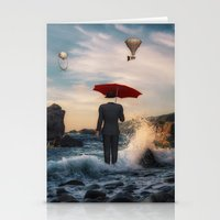 magritte Stationery Cards featuring A la Magritte by Susann Mielke