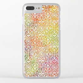 DP050-7 Colorful Moroccan pattern Clear iPhone Case