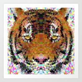 Tiger Triangle Mandala Art Print