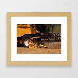Combine harvester in detail Framed Art Print