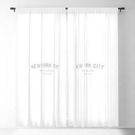 New York City - NY, USA (White Arc) Blackout Curtain
