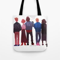 johannathemad Tote Bags featuring the club of five by JohannaTheMad