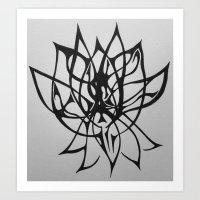 A Lotus Art Print