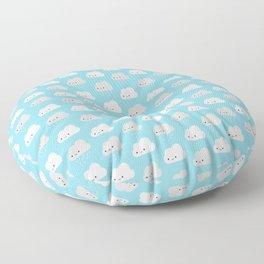 Happy and Sad Kawaii Clouds Floor Pillow