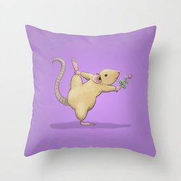Yoga Rat, Day 5 Throw Pillow