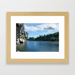 Mohonk Lake Framed Art Print