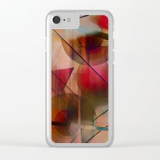 Circles Lines and Curves Clear iPhone Case