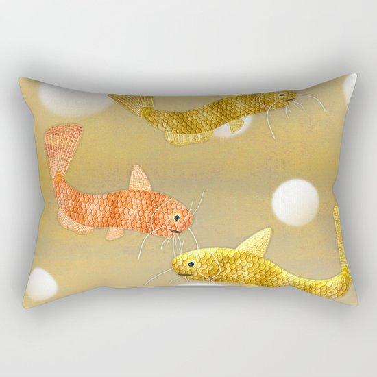 Toy Catfish (Gold) Rectangular Pillow
